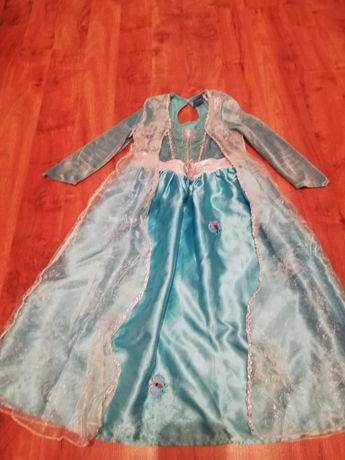 Strój na bal sukienka kraina lodu Elza oryginalna
