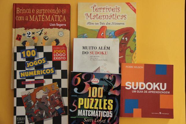 Livros de Matemática: Jogos, Puzzles, Sudoku...