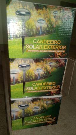 Lâmpadas solares Jardim