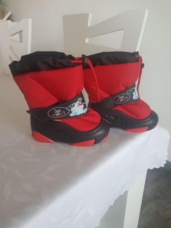 Polskie buty DEMAR kozaki dziecięce ocieplane futerkiem