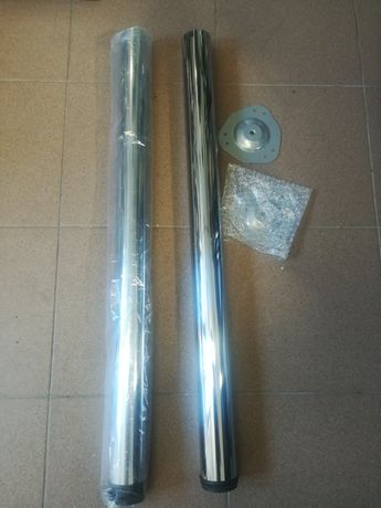 Noga meblowa regulowana fi 60 x 820 chrom 2 szt.