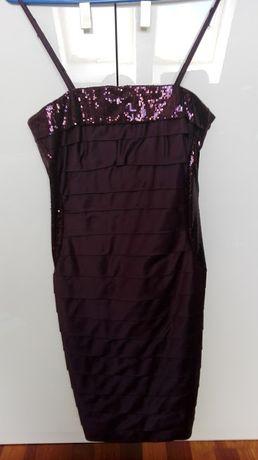 Sukienka w kolorze śliwkowym-idealna na wesele-sylwestra