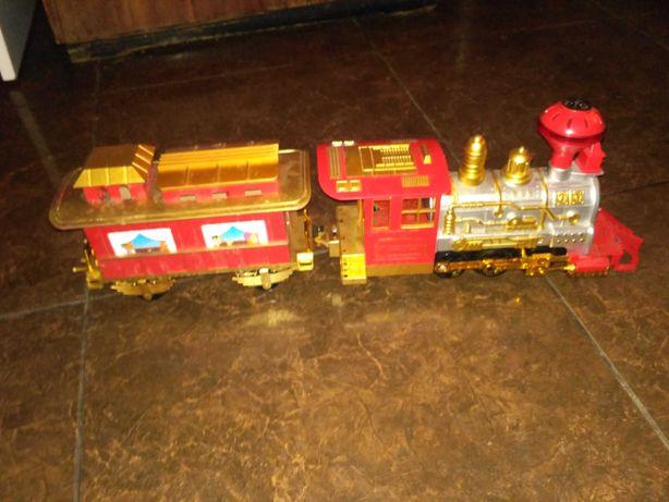 Іграшка поїзд з вагончиком