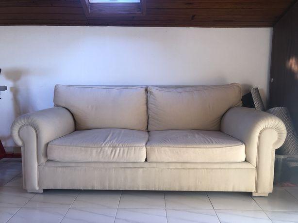 Sofa 3 lugares beje