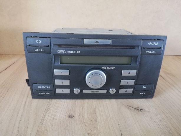 Radio ford 6000cd stan B dobry z kodem