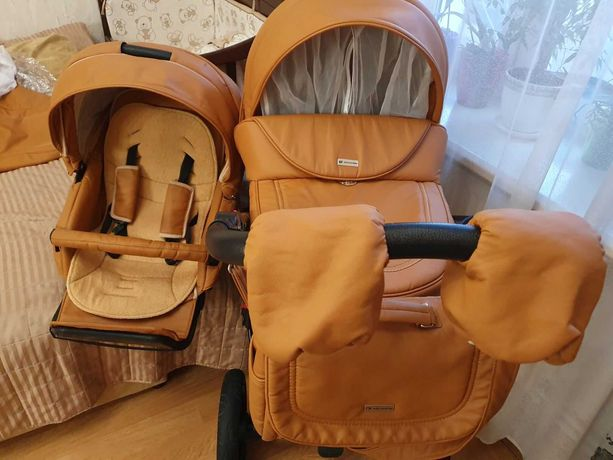 Детская коляска Adamex Barletta Deluxe Carbon 2 в 1