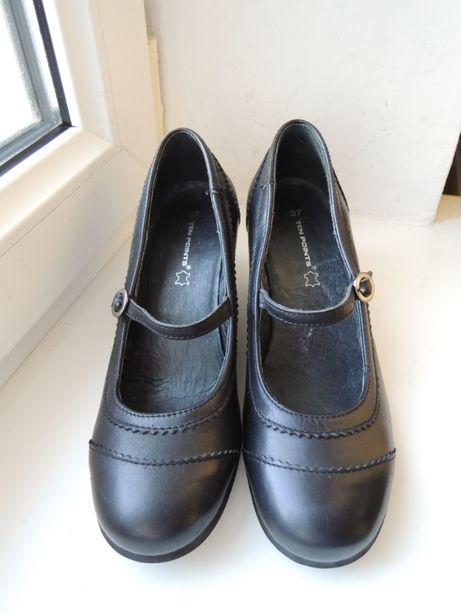 новые фирменные кожаные туфли Ten Points р.35 (23 см)