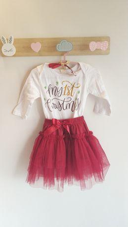 Conjunto roupa Natal bebé menina 80cm