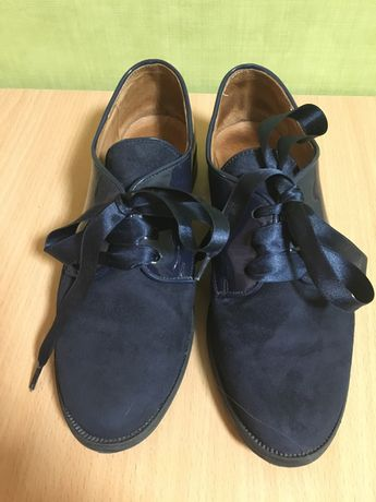 Туфли для девочки  школьные кожа