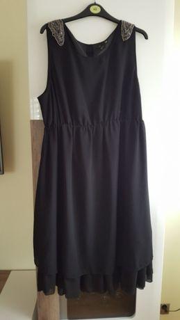 Czarna klasyczna sukienka H&M mama XL