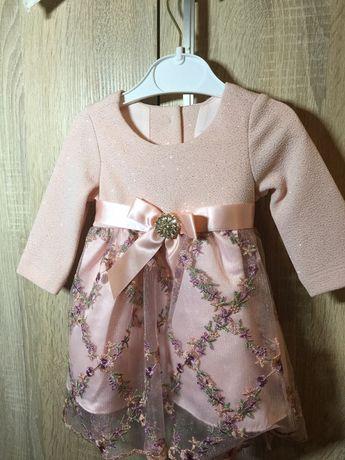 Платье красивое для девочки 3-6 мес