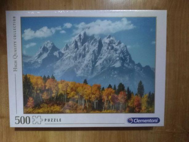Nowe Puzzle Clementoni 500 elementów Grand Teton in Fall