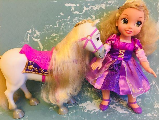 Кукла Рапунцель disney с конем Maximus оригинал.
