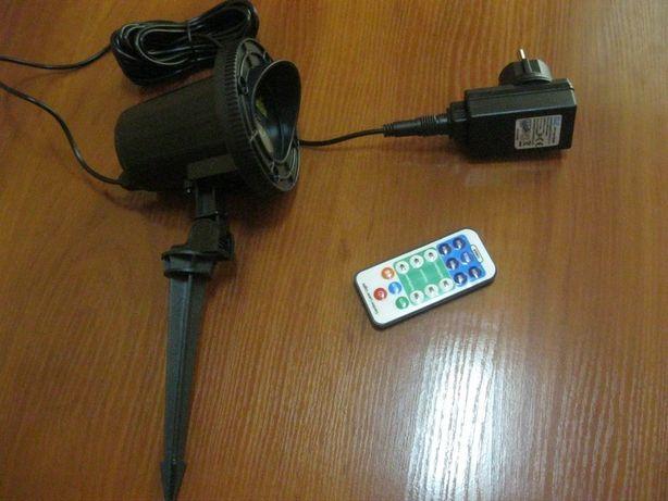 Трехцветный уличный лазерный проектор, ПДУ, движение проекций