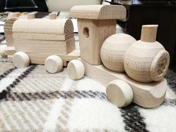 Деревянный эко конструктор, игрушка машинка, поезд, грузовик из дерева