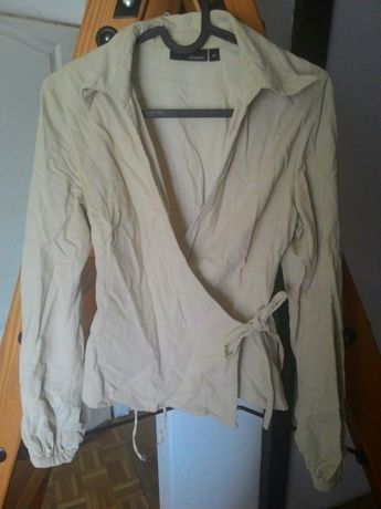 Bluzka/koszula kopertowa sztruksowa H&M Hennes rozm. 34