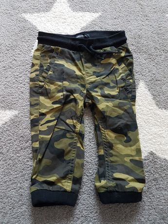 Spodnie chłopięce moro Reserved 9-12 miesięcy 80 cm