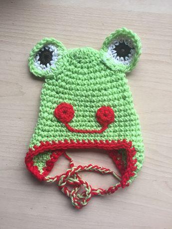 Czapka żaba do sesji