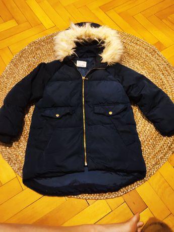 Płaszcz kurtka puchowa ZARA 128 zimowa