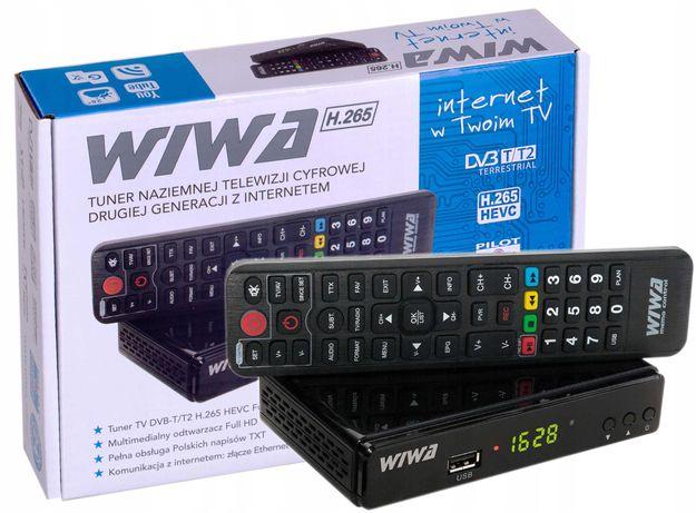 Dekoder Tuner Wiwa TV Naziemnej drugiej generacji DVB-T2 H.265 HEVC