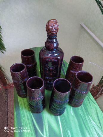 """Графин """"Козак""""+бокалы стаканы"""