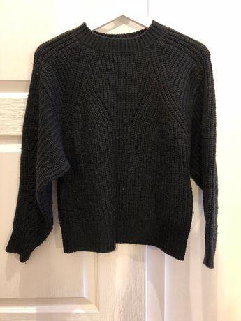 Czarny wełniany sweter oversize River Island