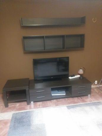Szafka RTV, półki, stolik kawowy wenge