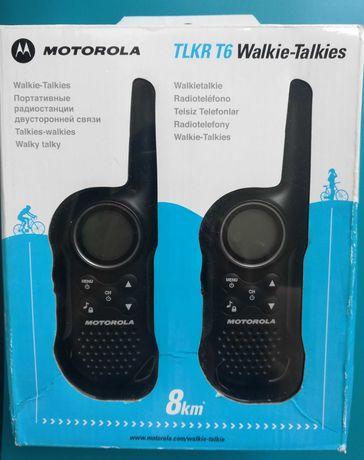 Motorola TLKR T6 Walkie-Talkie 8 km - Como Novo