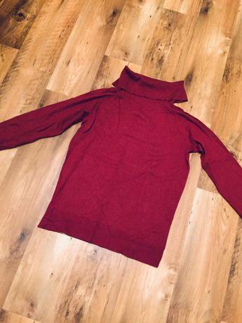 Mexx czerwony sweter z golfem 42 XL