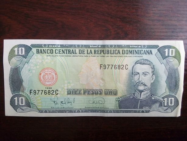 Banknot 10 pesos Dominikana 1996