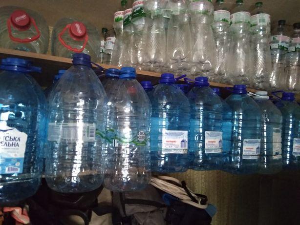 Бутылка ПЭТ 5-6 литров баклашка пластиковая бутыль банка