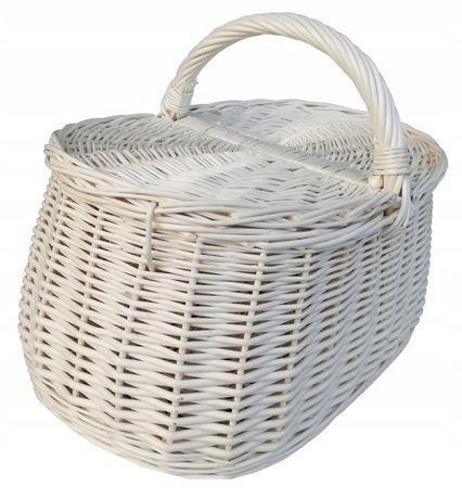 Kosz na piknik, zakupy (bagażowy zwykły) ECRU