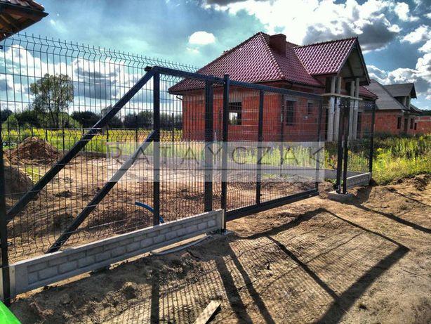 Brama przesuwna suwana jednoskrzydłowa Panelowa Ogrodzenie 1,70m