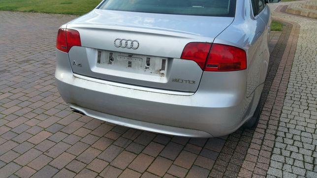 Zderzak klapa tylna Sline Sedan Audi A4 B7 LY7W 2006r