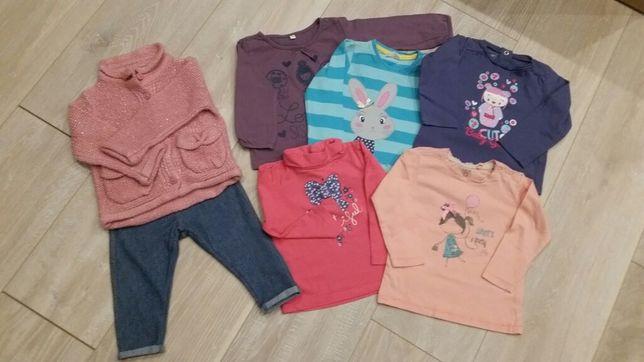 Zestaw r.74 spodnie bluzka sweter zara cool club