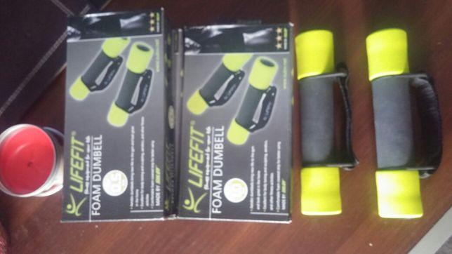 LifeFit hantle 2 x 1 kg i 2 x 0.5 kg nowe