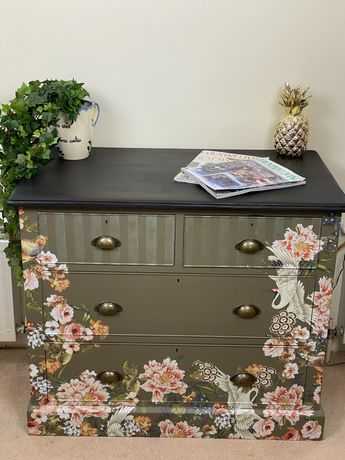 Hand Painted Vintage Chest
