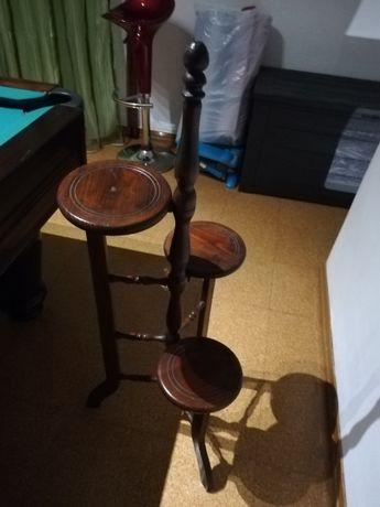 suporte em madeira antigo para vasos