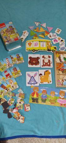 Магнитные пазлы +карточные игры для самых маленьких