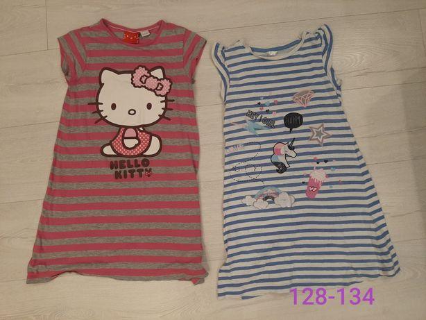2 x koszula nocna dziewczęca 128-134