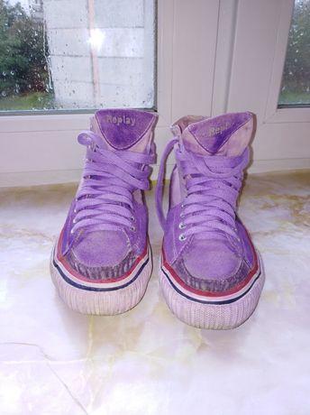 Женские кеды, фиолетовые, 39 размер, Replay