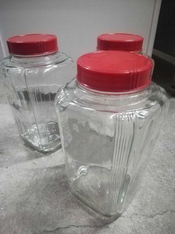Conjunto 3 frascos vidro