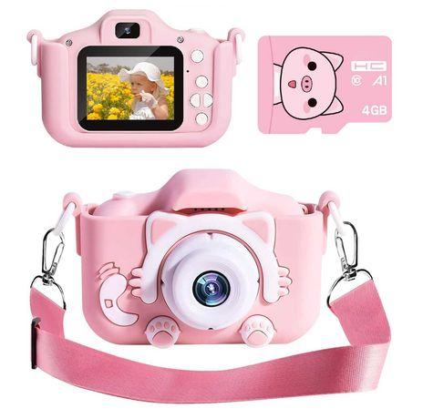Aparat Cyfrowy Dla Dzieci Fotograficzny KOTEK+Karta 4GB