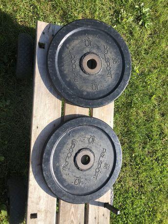 Obciazenie olimpijskie Polsport 2x15 kg fi51 Unikat