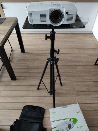 Projektor Acer H6517ST + ekran projekcyjny HD Grey szary 96'' + etui