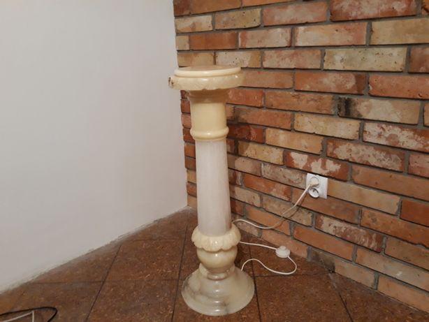 Francuska lampa podłogowa kolumnowa z alabastru