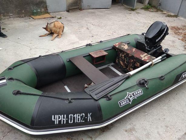 Лодка с мотором Меркури 5 (4т)