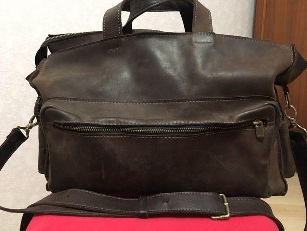 Шкіряна сумка для ноутбука та документів, ціна 200 грн
