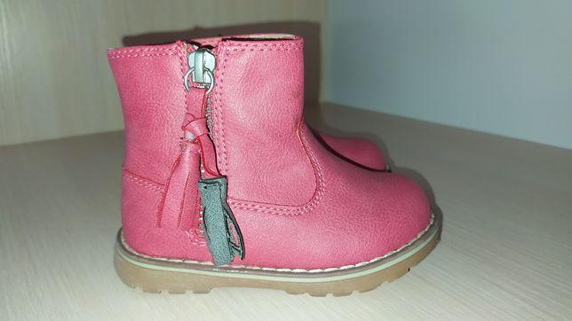 Брендовые демисезонные ботинки (сапожки) Next для девочки, размер 4