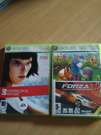 Sprzedam gry Xbox 360 Mirrors Edge Viva Pinata